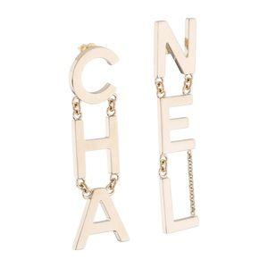 Chanel Letter Drop Earrings